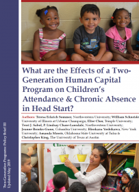What are the Effects of a Two-Generation Human Capital Program on Children's Attendance & Chronic Absence in Head Start?