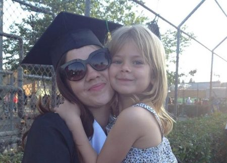 Amber Angel, Parent Advisor, with daughter